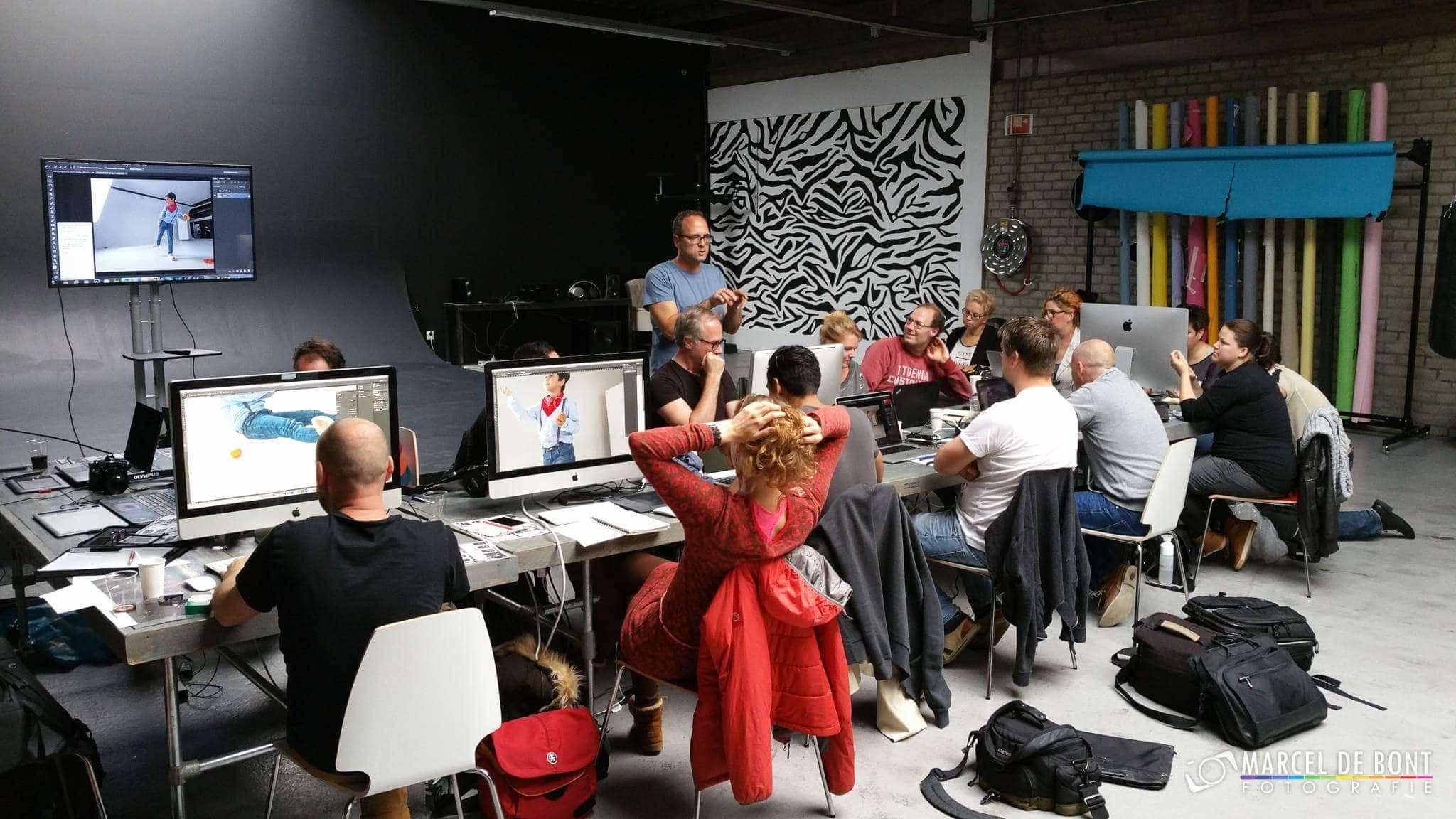 Workshop Adrian Sommerlink conceptuele fotografie in studio 34x, Almere