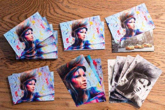 Foto's worden afgedrukt op papier of voor aan de wand
